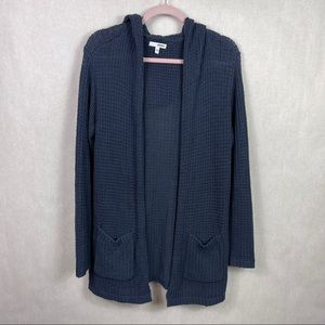 Sonoma Hooded Open Front Cardigan Blue Small